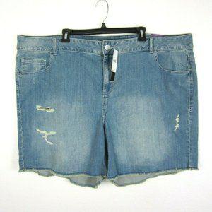 LANE BRYANT New 28 Plus Cut Off Distressed Shorts